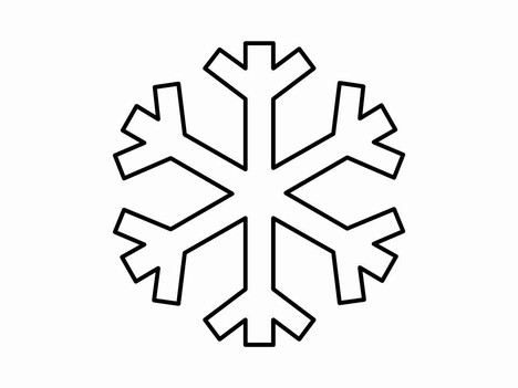 Simple free download best. Snowflake clipart drawing