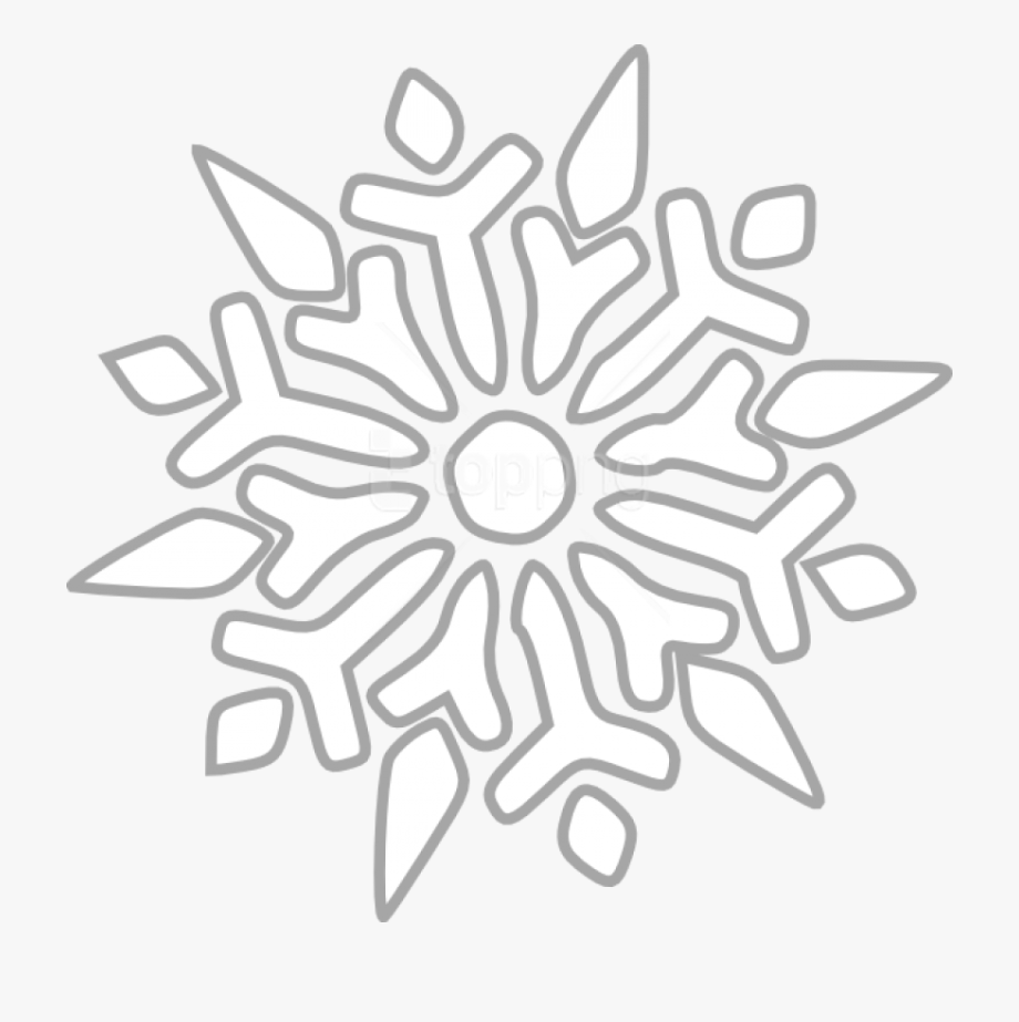 Snowflake clipart drawing. Free png images transparent