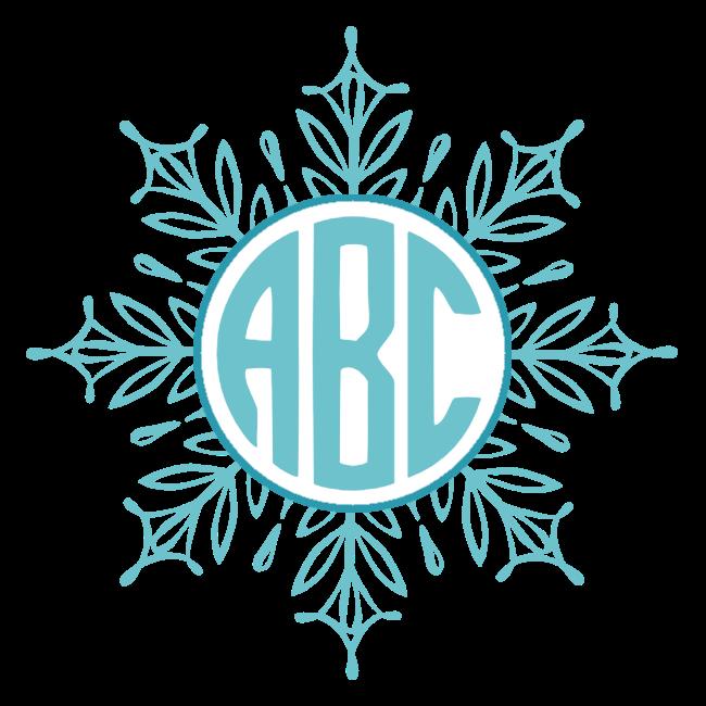 Snowflake clipart pdf. Free custom monogram customize