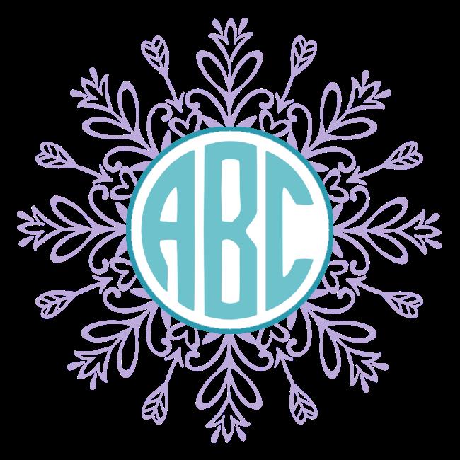 Free custom monogram customize. Snowflake clipart pdf
