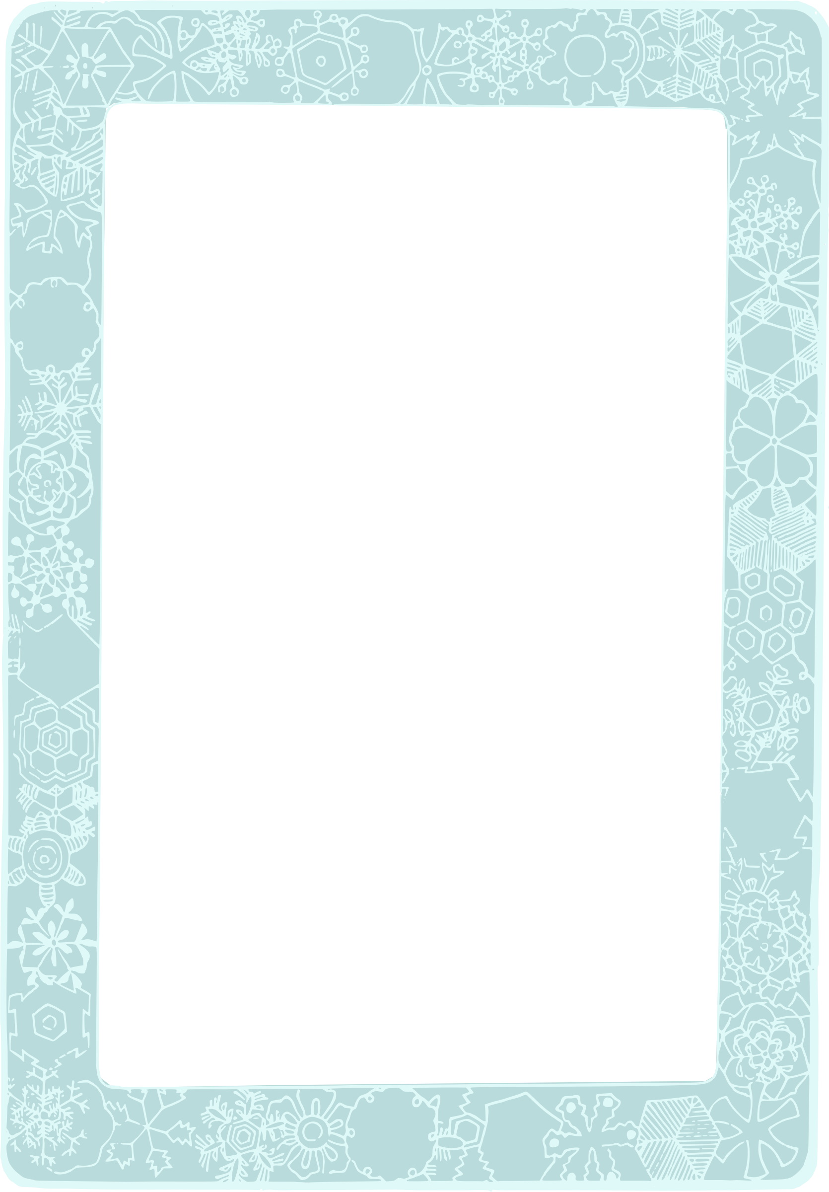 Snowflake frame png. Colour icons free and