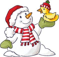Cute clip art free. Snowman clipart