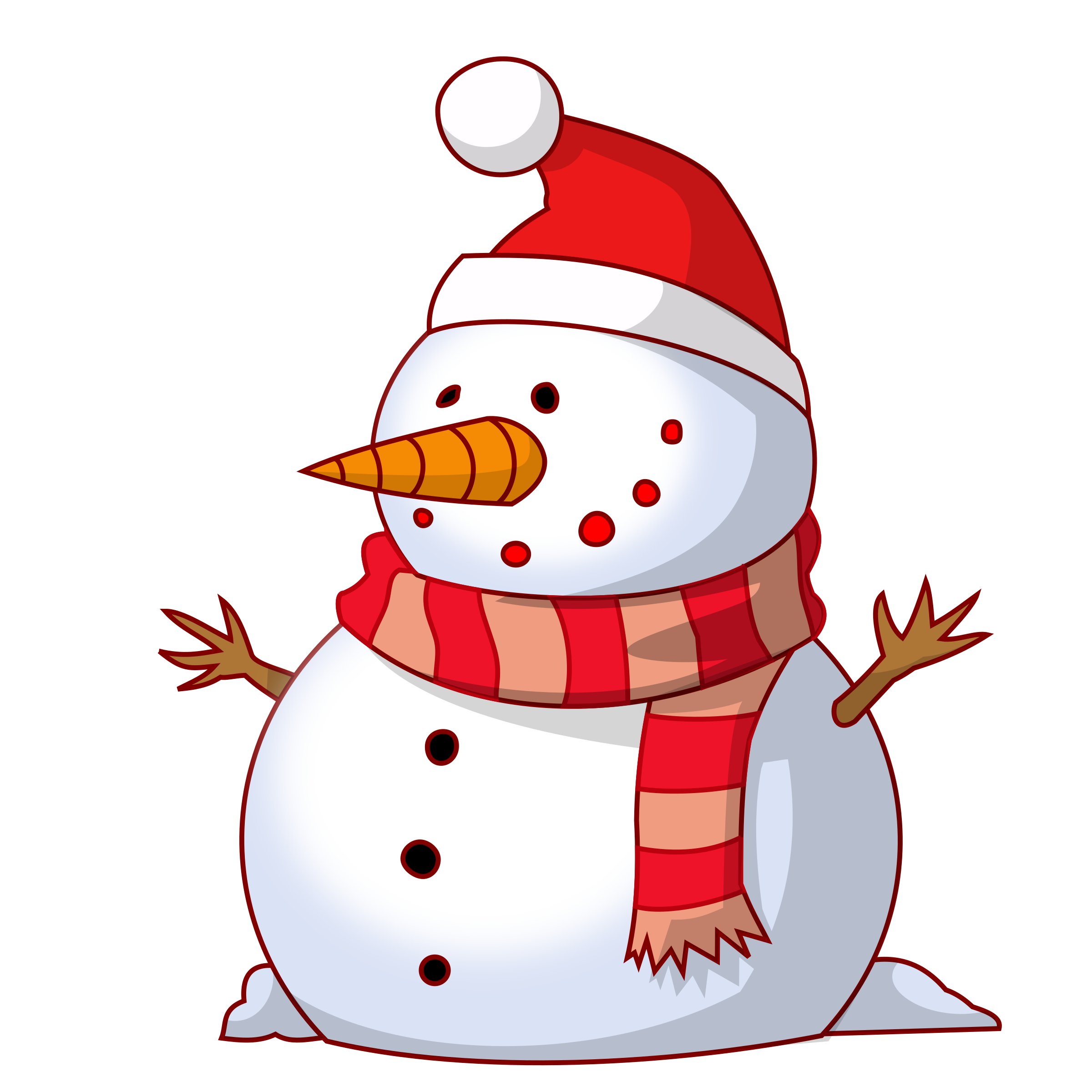 Drawing big image png. Snowman clipart
