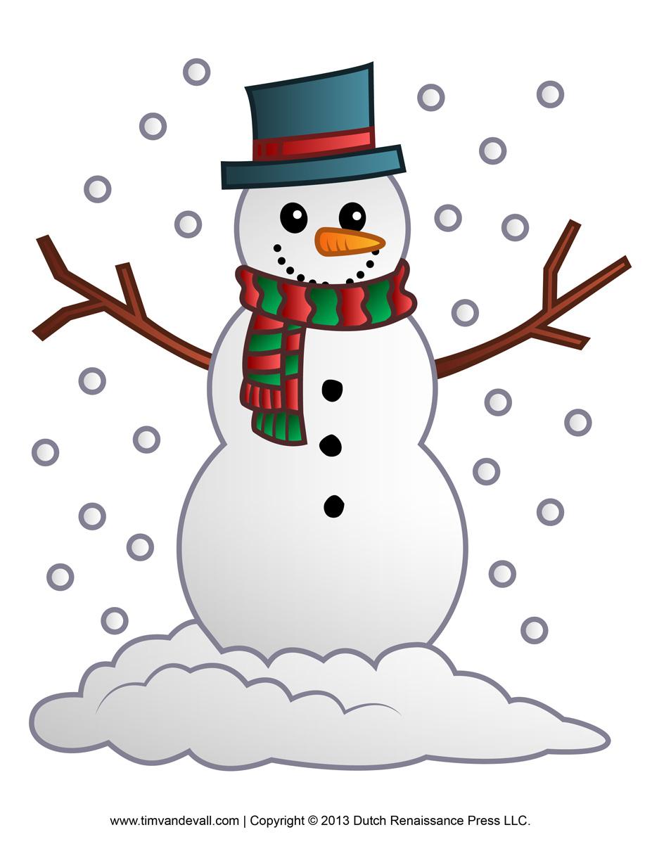 Snowman clipart. Free