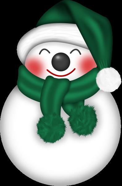 Snowman clipart green. Christmas clip art snowmen