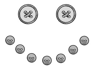 Button clip art library. Snowman clipart mouth