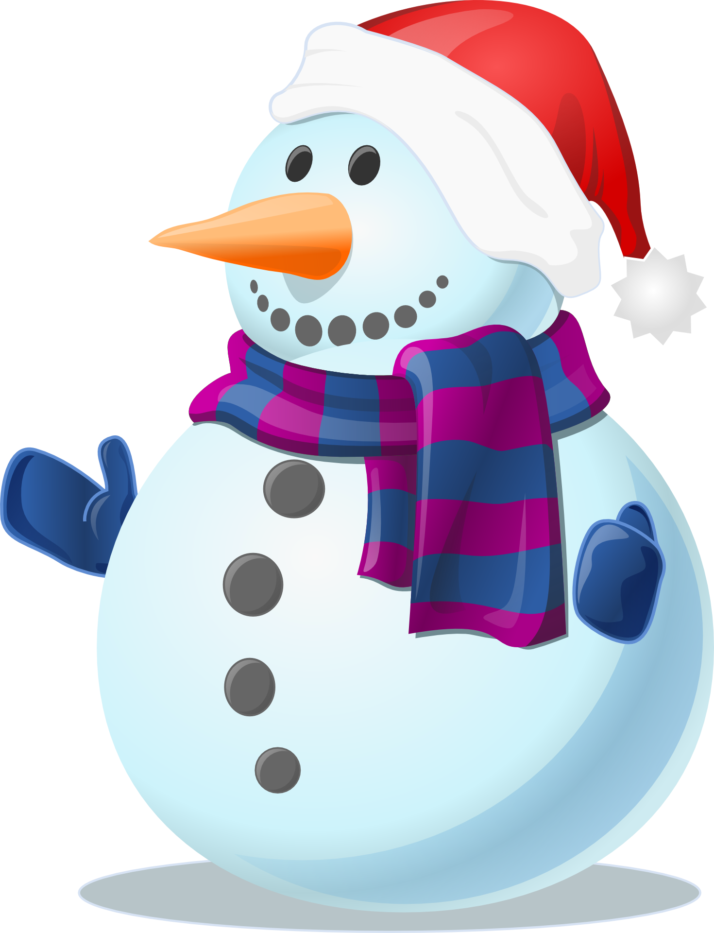Snowman purple