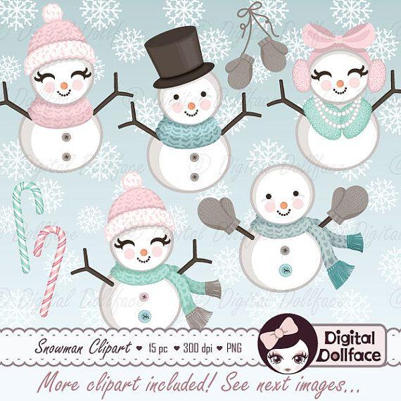 Snowman clipart theme. Christmas snow winter cozy