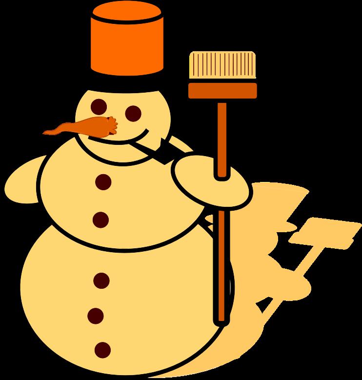 snowman clipart yellow