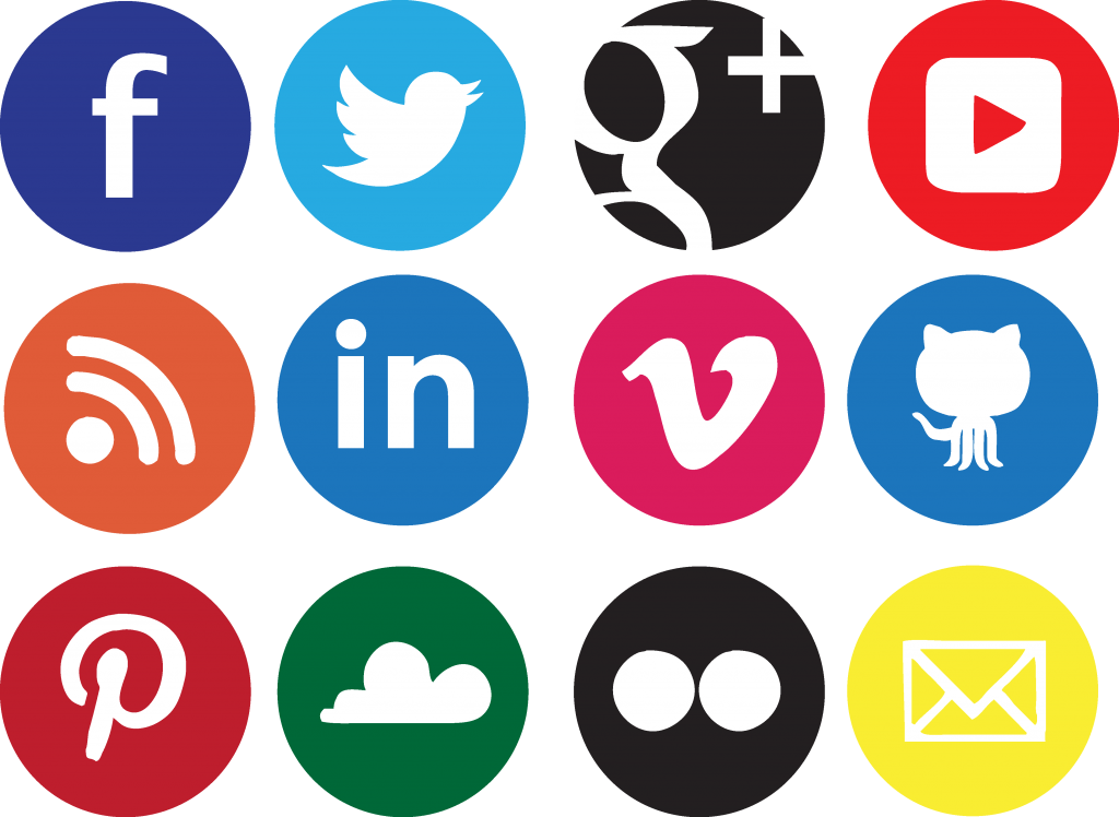 Sociocons networks sharing icons. Social icon png