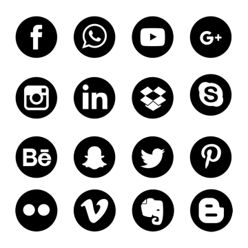 Vectors psd and clipart. Social media icons vector png