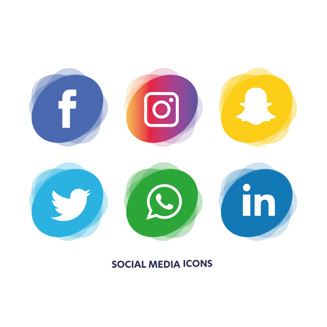Set icon and for. Social media icons vector png