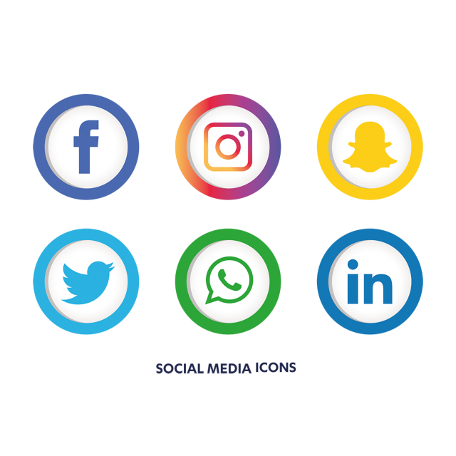 Social media icons vector png. Set icon and for