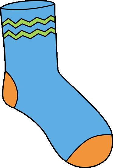 Sock clipart. Clip art images blue