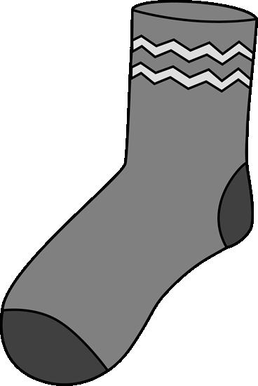Sock clipart. Gray clip art image