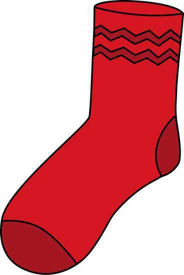 Clip art images red. Sock clipart