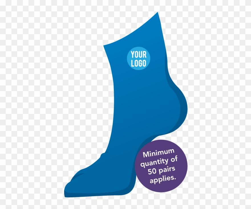 Sock clipart blue dress. Custom socks with logo