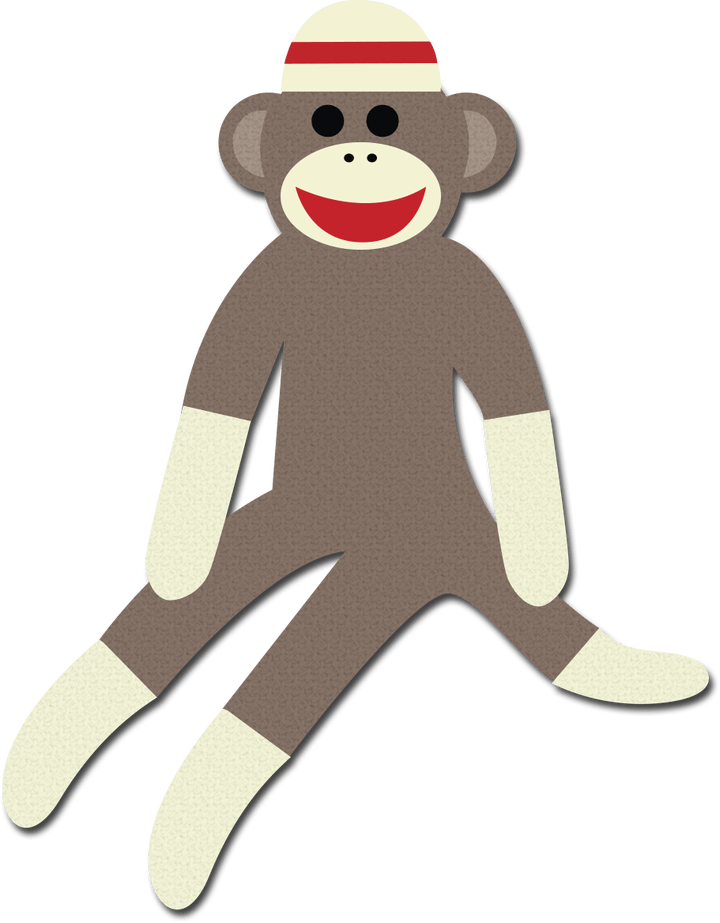 Monkey cartoon pictures secondtofirst. Sock clipart cute sock