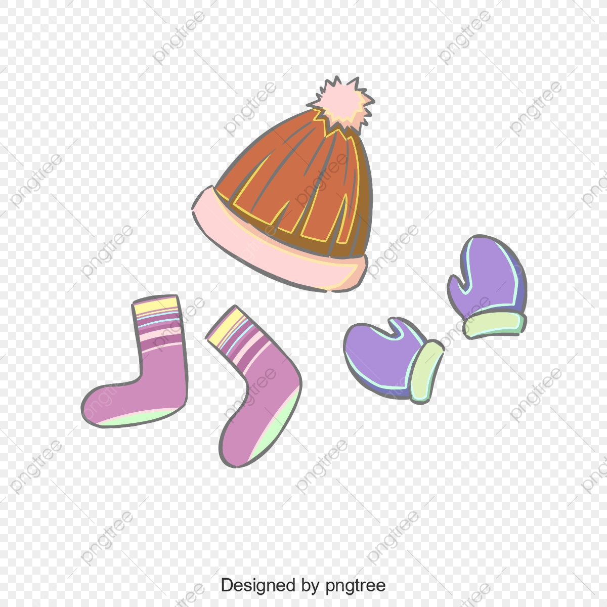 Sock clipart cute sock. Hand painted illustrations of