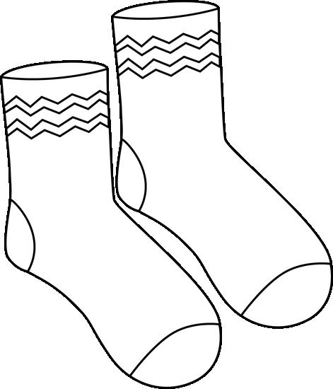 Clip art images . Sock clipart dark clothes