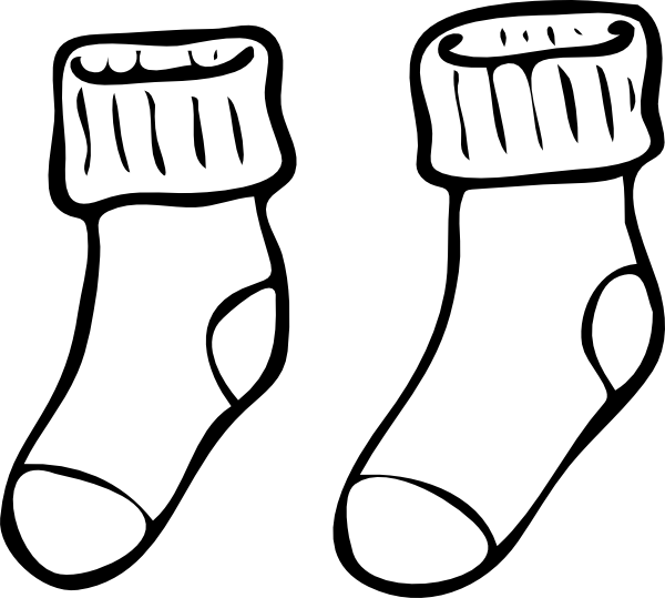 Clipart socks socks nike. Sock coloring page mesmerizing
