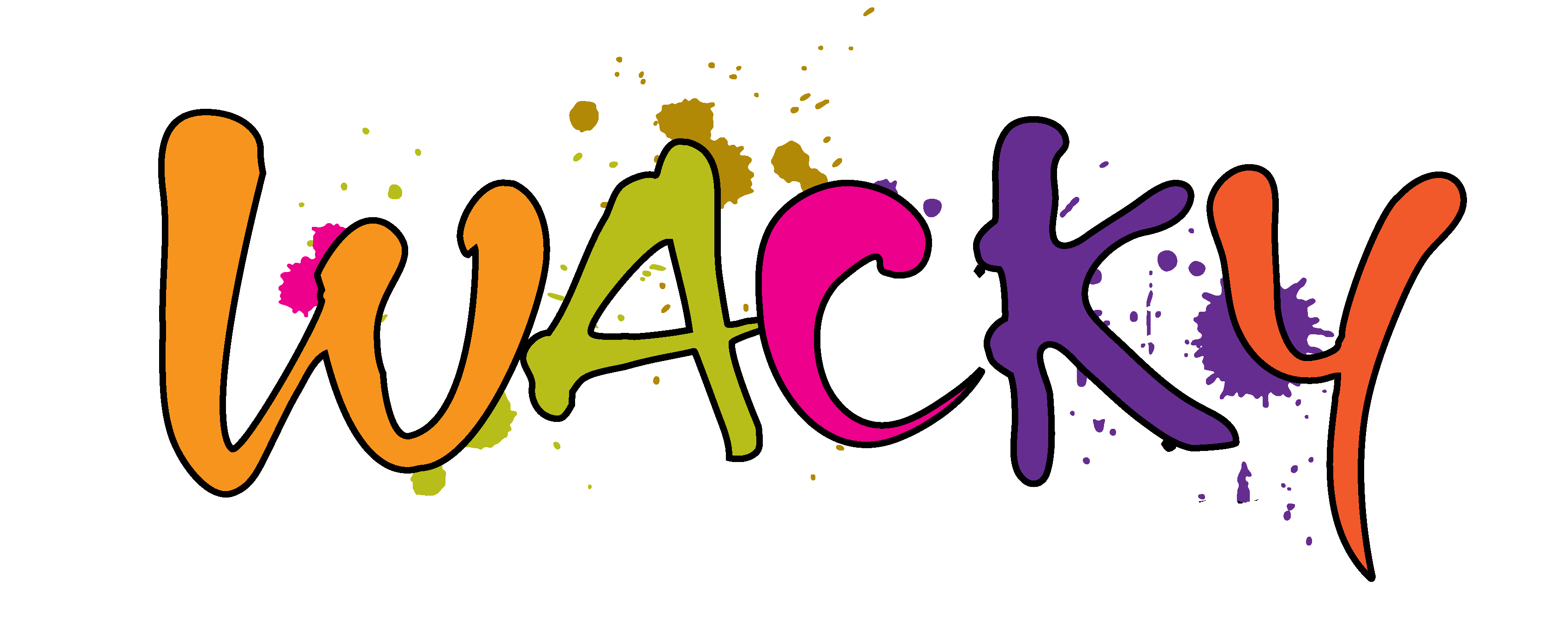 Wacky lil giggles play. Wednesday clipart whacky