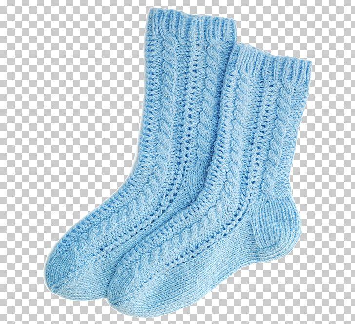 M shoe blue png. Sock clipart wool sock
