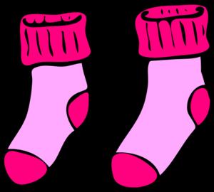 Clipart socks. Pink clip art at