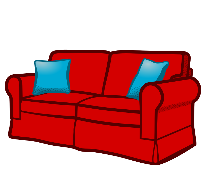 Sofa coloured medium image. Couch clipart sat down