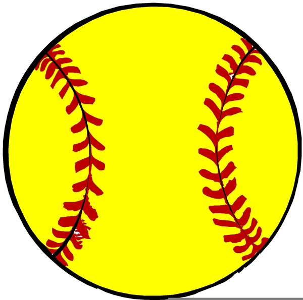 Softball clipart. Free yellow images at