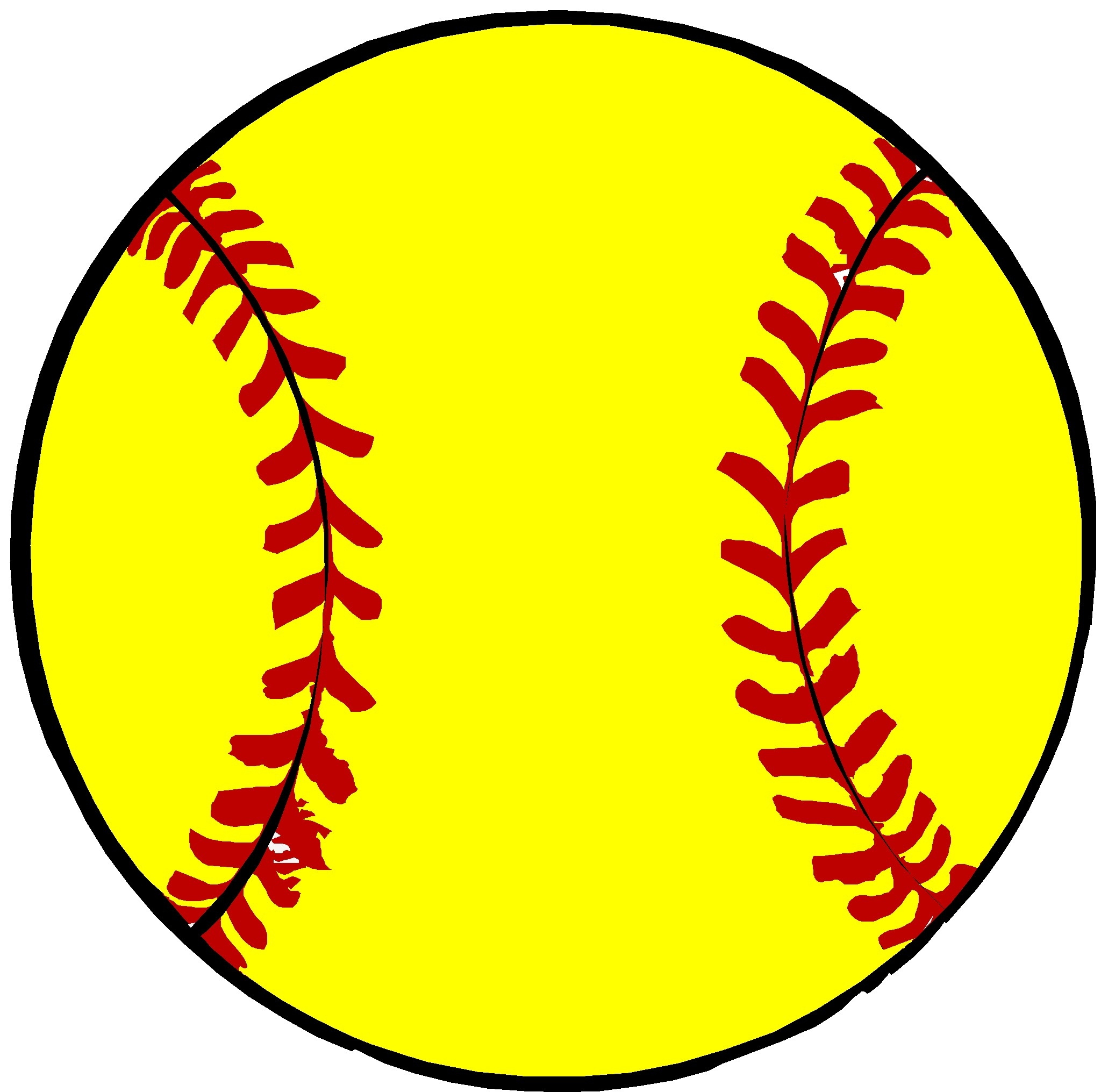 Softball clipart. New design digital collection