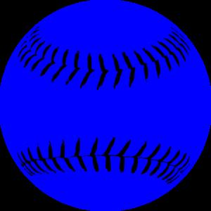 Softball clipart blue. Clip art at clker