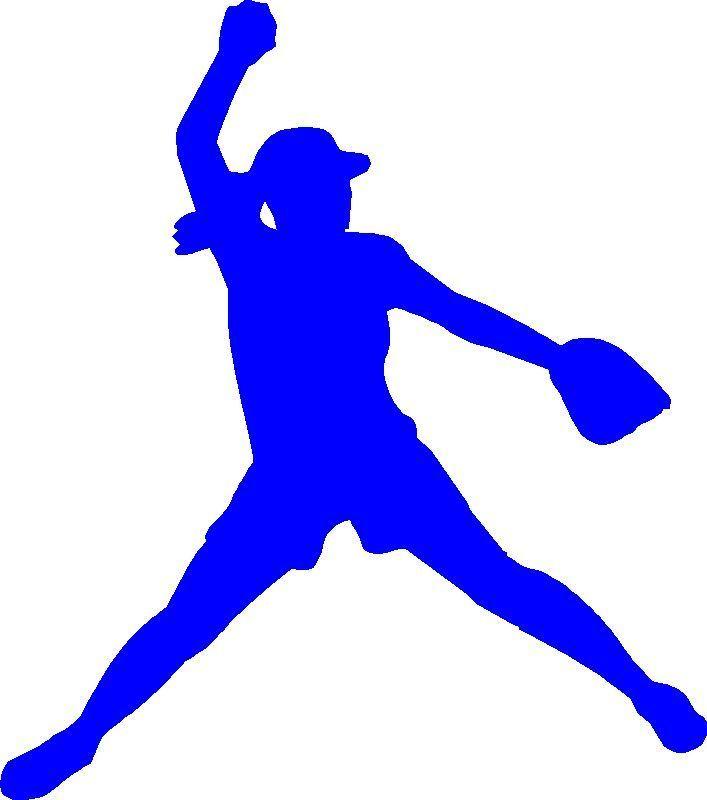 Pitcher clip art library. Softball clipart blue
