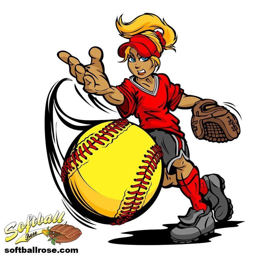 Softball clipart cartoon. Ah