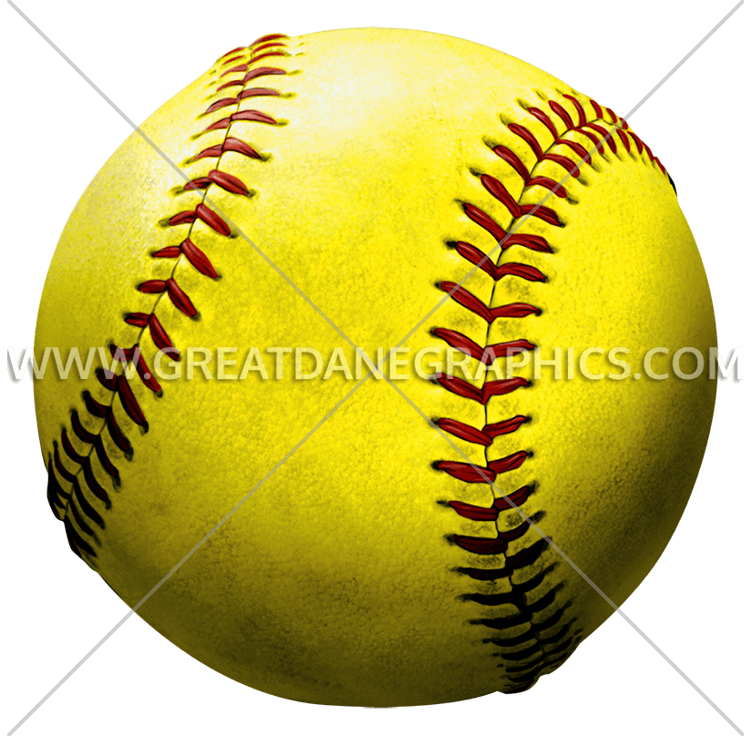 Softball clipart clear background. Production ready artwork for