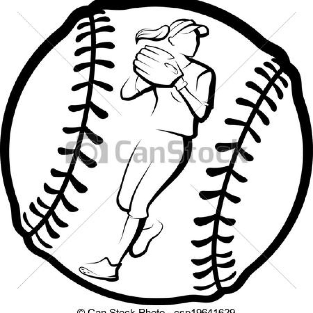 Softball clipart draw. Drawing free download best