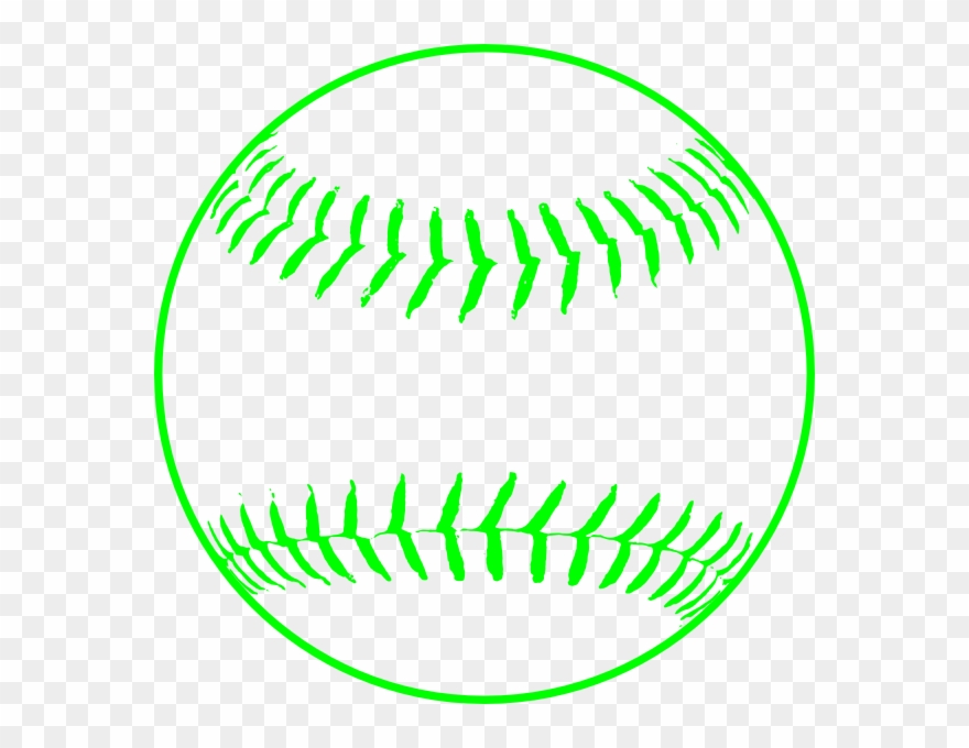 Silhouette of a pinclipart. Softball clipart green