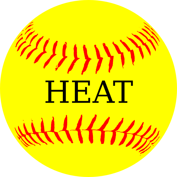 Yellow heat clip art. Softball clipart heart