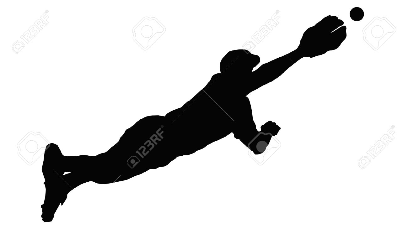 Baseball player black and. Softball clipart outfielder