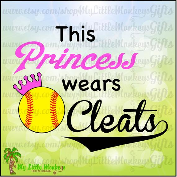 Softball clipart princess. Design this wears cleats