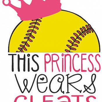 Softballbaseball . Softball clipart princess