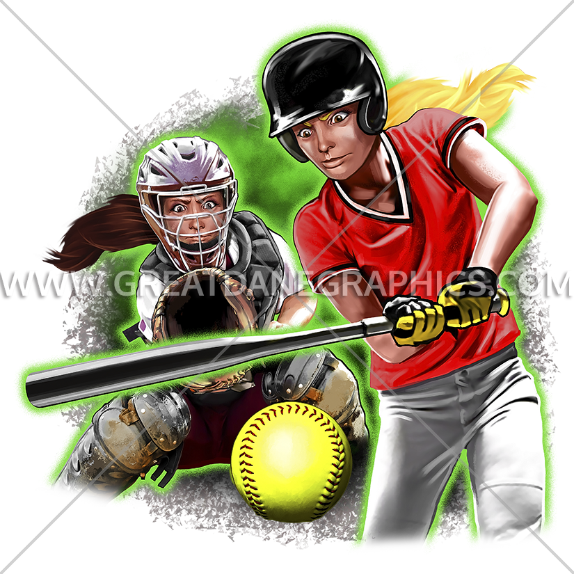 Softball clipart red. Teenage girls production ready