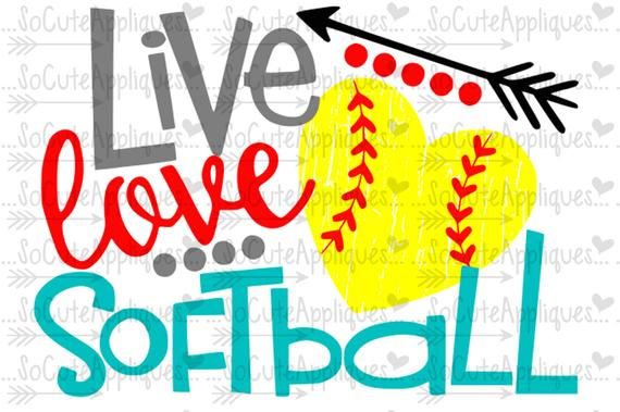 Svg live love . Softball clipart sister