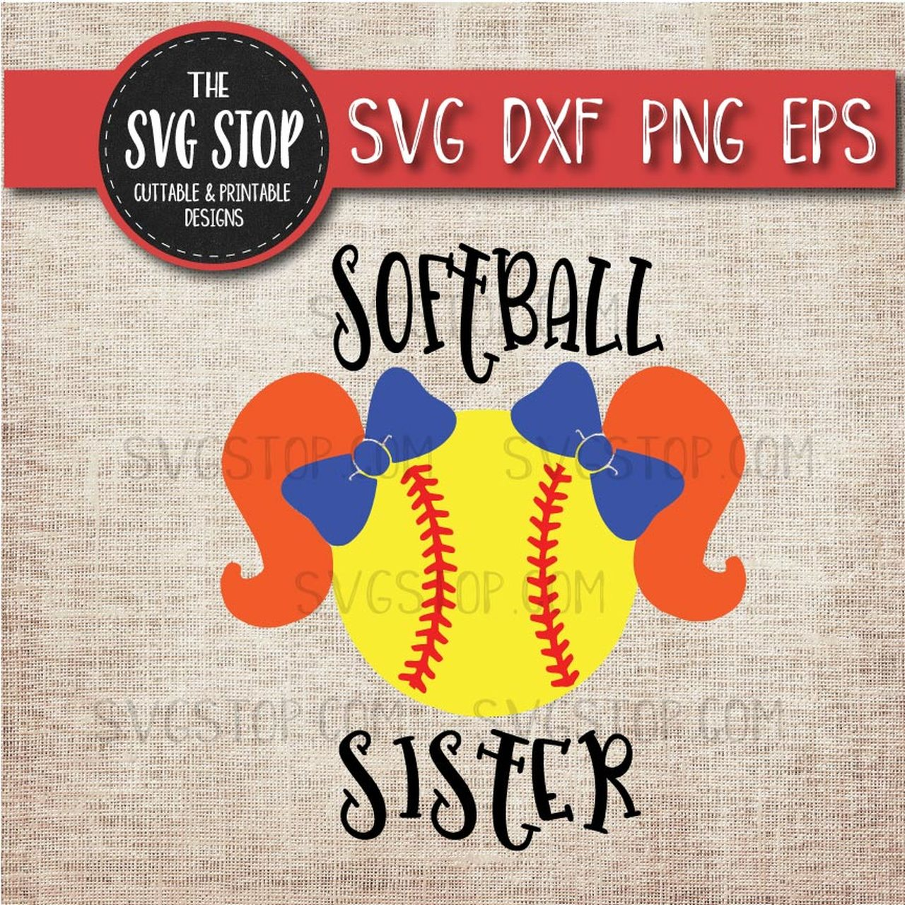 Pigtails sports school svg. Softball clipart sister