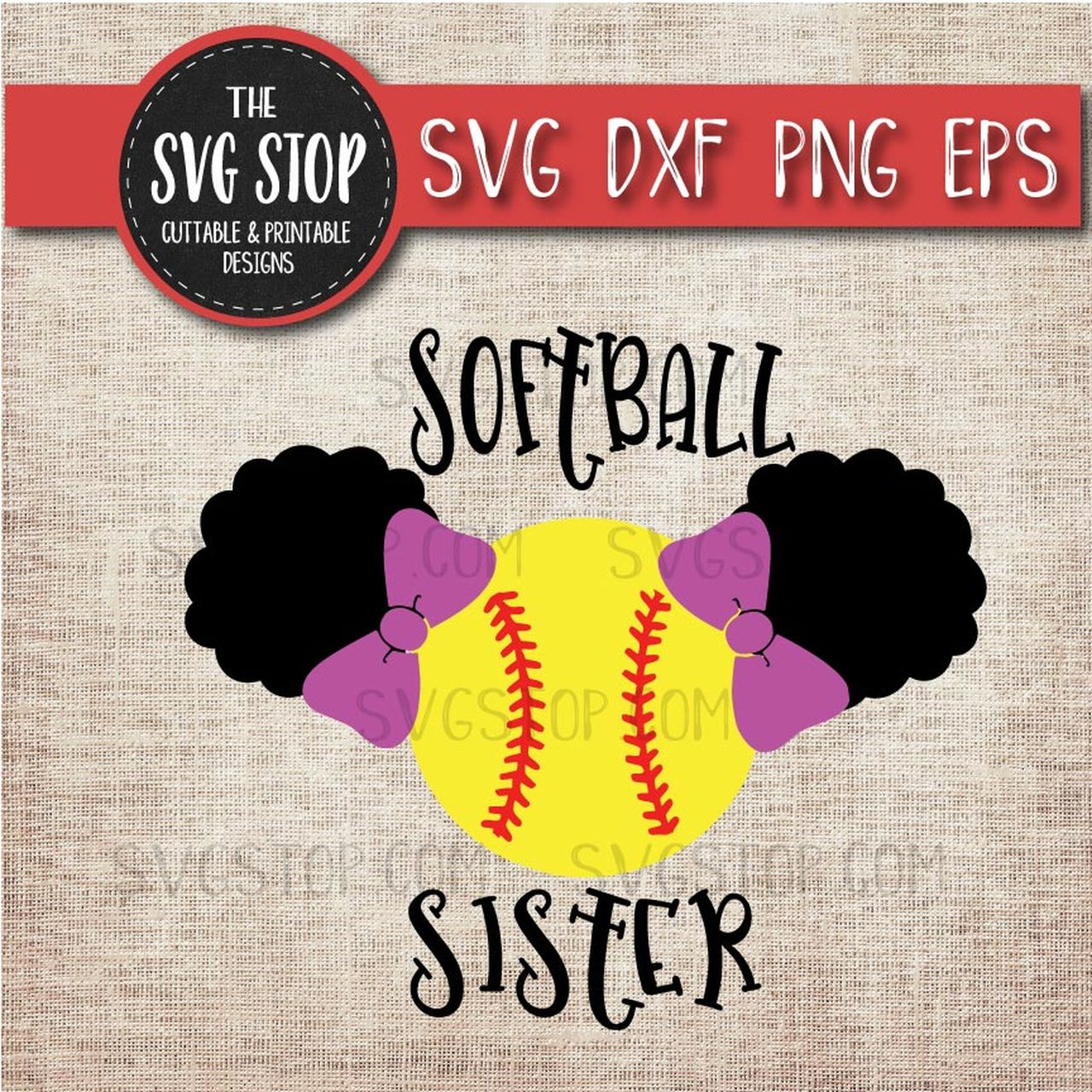 Softball clipart sister. Pigtail puffs sports school