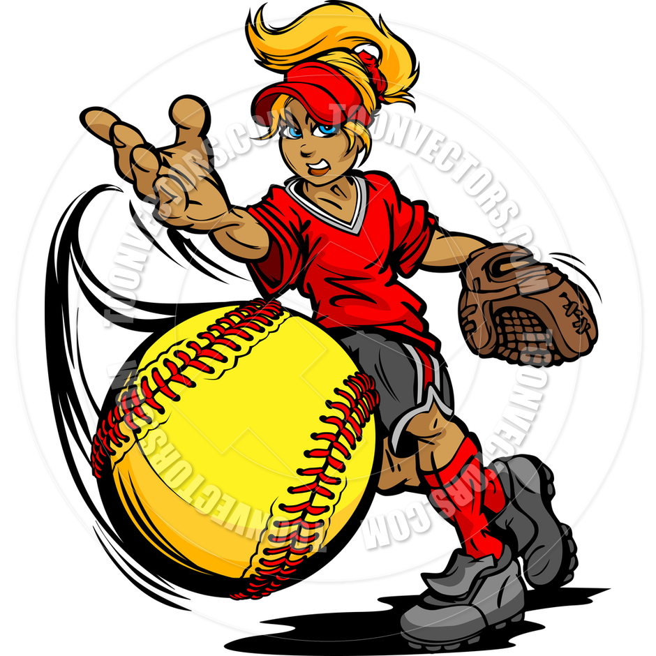 Player free download best. Softball clipart slow pitch softball