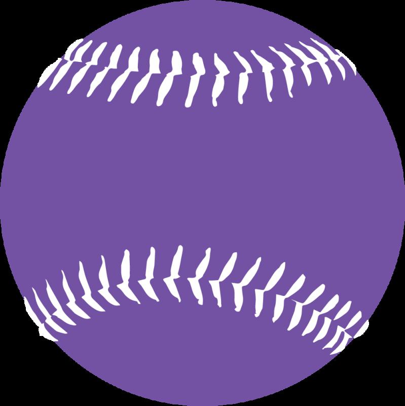 Purple cliparts zone fonts. Softball clipart softball diamond