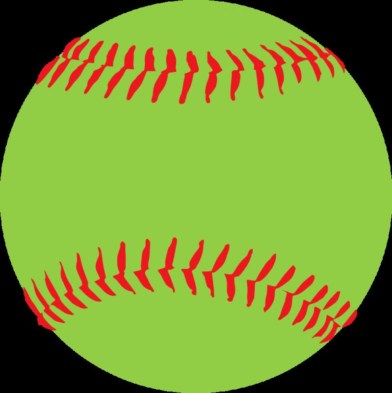 Green . Softball clipart softball field