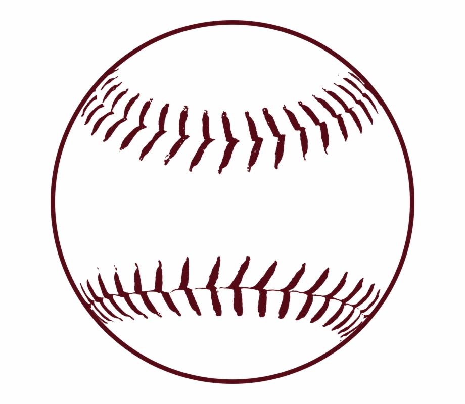 Baseball stitches ball leather. Softball clipart sport