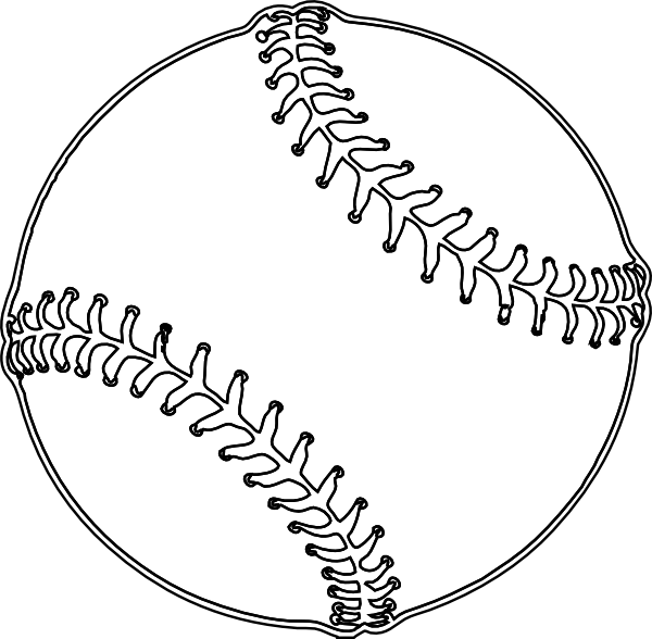 Softball outline. Clipart stitching transparent free